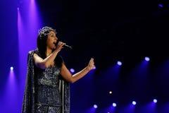 Jamala från Ukraina eurovision 2017 arkivbilder