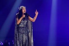 Jamala från Ukraina eurovision 2017 fotografering för bildbyråer
