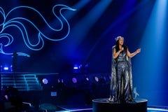 Jamala från Ukraina eurovision 2017 royaltyfri bild