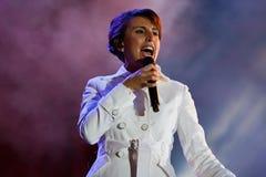 Jamala sångare, på konserten för Vinnytsia stadsdag Arkivbilder