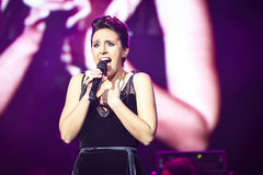 Jamala at solo concert at Lviv Opera House Royalty Free Stock Image