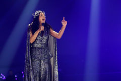 Jamala from Ukraine eurovision 2017 stock image