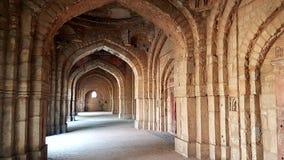 Jamali-kamali masjid, Delhi India Stock Afbeelding