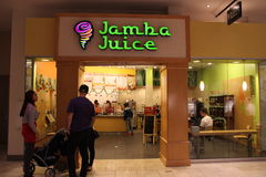 Jamba Juice Nutrition Smoothies. Jamba Juice is is a leading restaurant retailer of better-for-you food and beverage offerings, including great tasting fruit Royalty Free Stock Photo