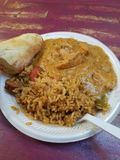 Jambalaya-Abendessen @ Bourbon und Toulouse in Lexington Kentucky stockbild