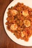 Jambalaya. Cajun meal of jambalaya with shrimp and rice stock photography