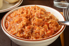 Jambalaya closeup Stock Photos