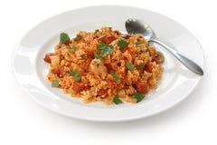 Jambalaya , creole rice dish stock photos