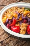 Jambalaya français avec le poulet et le riz photo stock