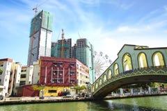 Jambatan老汽车站。Melaka 免版税库存图片