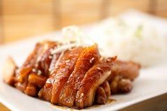 Jambe cuite de porc Photographie stock