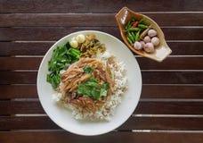 Jambe cuite de porc sur le riz version3 Photos libres de droits