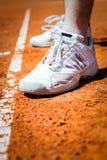 Jambe de joueur de tennis Images libres de droits