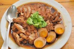 Jambe de porc cuite Image stock