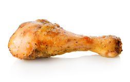 Jambe de poulet grillée Image libre de droits