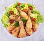 Jambe de poulet grillée Photos libres de droits