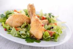 Jambe de poulet grillée Images stock