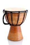 Jambe Drum - profile. Balinese gamelan making mahogany wood drum Stock Photos