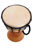 Jambe Drum - top view. Balinese gamelan making mahogany wood drum Stock Photo