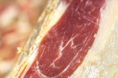 Jambe ibérienne traitée de jambon, jambon de bellota Nourriture espagnole gastronome Images libres de droits
