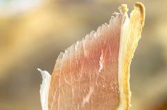 Jambe ibérienne traitée de jambon, jambon de bellota Nourriture espagnole gastronome Photographie stock libre de droits