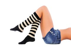 Jambes photo stock