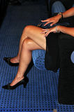 Jambes croisées Image libre de droits