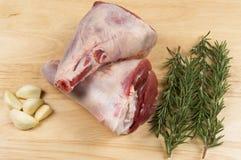 Jambes d'agneau Photographie stock libre de droits