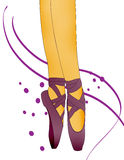 Jambes de ballerine Images libres de droits