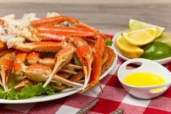 Jambes de crabe Photos stock