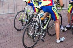 Jambes de cyclistes Image libre de droits
