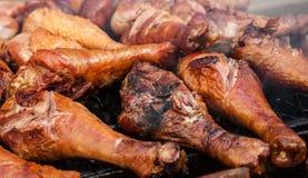 Jambes de dinde grillées par amende Photographie stock libre de droits