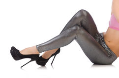 Jambes de femme Image stock