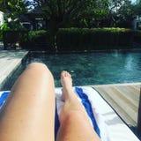Jambes de piscine Photo libre de droits