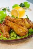 Jambes de poulet frit Photo stock