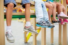Jambes des enfants Photographie stock