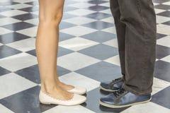 Jambes du ` s de couples Images libres de droits