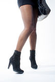 Jambes femelles image stock