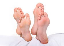 Jambes femelles et jambes masculines Photographie stock libre de droits