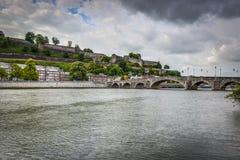 Jambes most w Namur, Belgia Zdjęcia Royalty Free