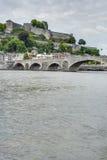 Jambes most w Namur, Belgia Zdjęcia Stock