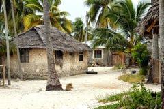 Jambiani village in Zanzibar Stock Image