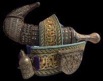 Jambiya - en traditionell jemenitisk dolk Royaltyfri Bild