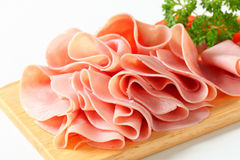 Jambon coupé en tranches Image stock