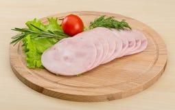 Jambon coupé en tranches Image stock