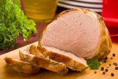 Jambon cuit au four de porc Photographie stock
