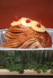Jambon de fête de vacances Photos stock