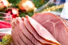 Jambon de miel de Holliday Photo libre de droits