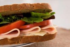 Jambon de poulet de sandwich Photos stock