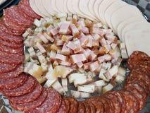 jambon de saucisses Photographie stock